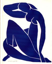 Zittend blauw (matisse)